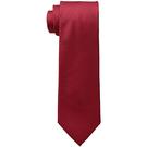 CK 男Siver Spun紅真絲窄領帶