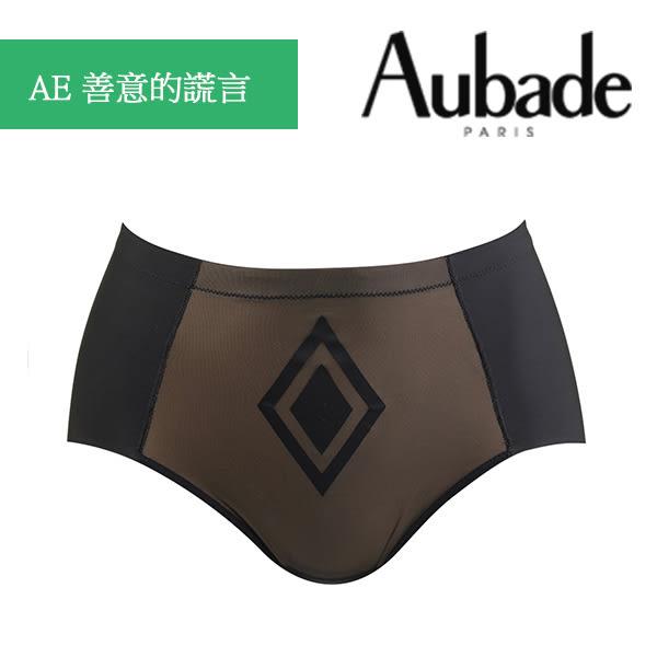 Aubade-無痕L中高腰機能褲(黑膚)AE