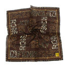 FENDI動物紋字母LOGO純棉帕巾(咖啡色)989006-14