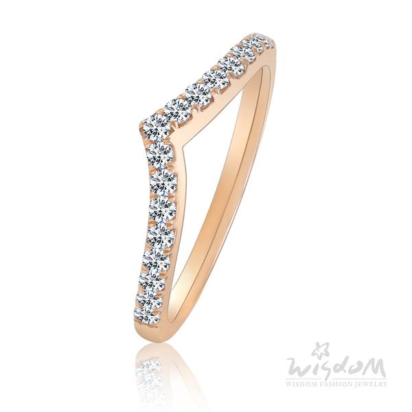 威世登 戀愛女神 玫瑰金鑽石戒指 婚戒推薦 情人節禮物 DA03128M2-BGEXX