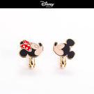 【迪士尼系列】親吻米奇米妮夾式耳環~夏綠蒂didi-shop
