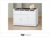【MK億騰傢俱】ES702-04貝多美白色4尺碗櫥餐櫃下座