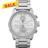 DIESEL 忍者戰將時尚計時腕錶/手錶-銀 DZ5301