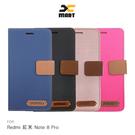 XMART Redmi 紅米 Note 8 Pro 斜紋休閒皮套 磁扣 側翻 可插卡 保護套 手機套