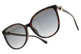 FENDI太陽眼鏡 FF0310FS 086FQ (琥珀棕-淺黃漸層灰藍鏡片) 低調貴氣貓眼款 # 金橘眼鏡