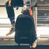 雙肩包女韓版潮流街拍書包男校園初高中學生森繫簡約時尚百搭背包花間公主