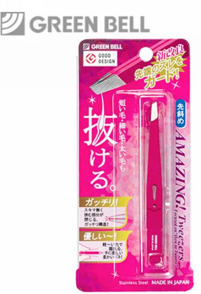 【永昌文具】日本綠鐘Amazing專利設計達人級斜口毛拔(桃紅色,GT-224)