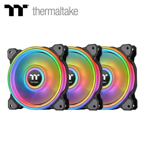 【Thermaltake 曜越】Riing Quad 12CM RGB 水冷排熱風扇(三顆包)