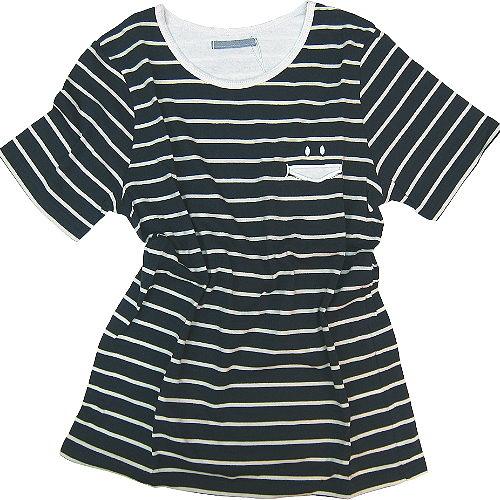 【波克貓哈日網】日系短袖T恤◇GAIN GROUND◇《藍白色條紋》