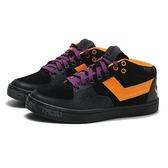 PONY 休閒鞋 黑黃紫 塗鴉 皮革麂皮 高筒板鞋 女 (布魯克林) 84W1AT04BK