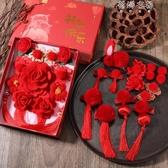 新年套裝小女孩紅色發卡發飾寶寶兒童中國風女童拜年毛球過年頭飾 蓓娜衣都