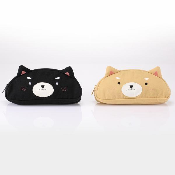 柴董麻糬造型筆袋/化妝包/萬用包/拼布包包