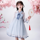 女童洋裝夏款漢服2020年夏季小女孩公主裙兒童夏裝蓬蓬裙子禮服 滿天星
