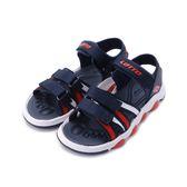 LOTTO 活力織帶涼鞋 黑紅 LT8AKS6206 中大童鞋 鞋全家福