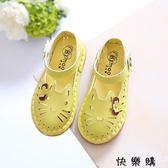 兒童涼鞋寶寶鞋鏤空貓咪單鞋