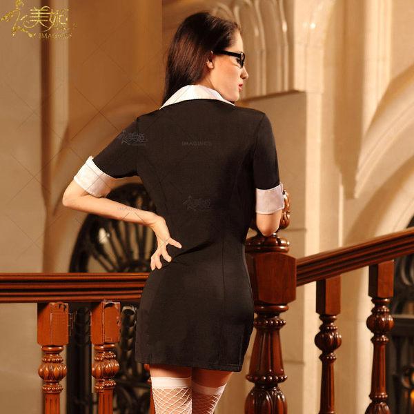 ♥♥衣美姬♥歐美精品 女教師 性感火辣扮演服 修身顯瘦款 情趣內衣 辣妹表演 誘惑制服