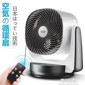 空氣循環扇電風扇遙控家用靜音台式節能扇日本渦輪空氣對流扇 igo陽光好物