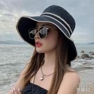 帽子女新款夏季防曬漁夫帽顯臉小防紫外線太陽帽大檐帽春遮陽帽 快速出貨