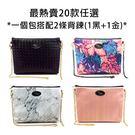 """泰國Bliss BKK包包 側背包 """"最熱賣20款"""" 一個包搭配兩條背帶 (黑/金)"""