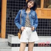 牛仔外套 網紅短款牛仔外套女學生韓版修身2020新款秋裝小香風上衣女潮ins 3色S-XL