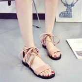 綁帶涼鞋蝴蝶結軟妹新款韓版百搭學生平跟女鞋 JD5302【KIKIKOKO】