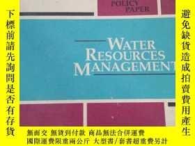 二手書博民逛書店罕見3【 起】Water Resources Managemen