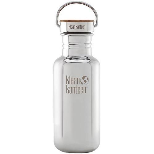 Klean Kanteen 18oz Reflect 特別版-竹片鋼蓋 不銹鋼瓶 原色鋼 K18SSLRF