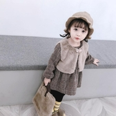 女童秋冬季加絨套裝裙子寶寶嬰兒洋氣秋裝洋裝公主裙小童兒童裝  poly girl