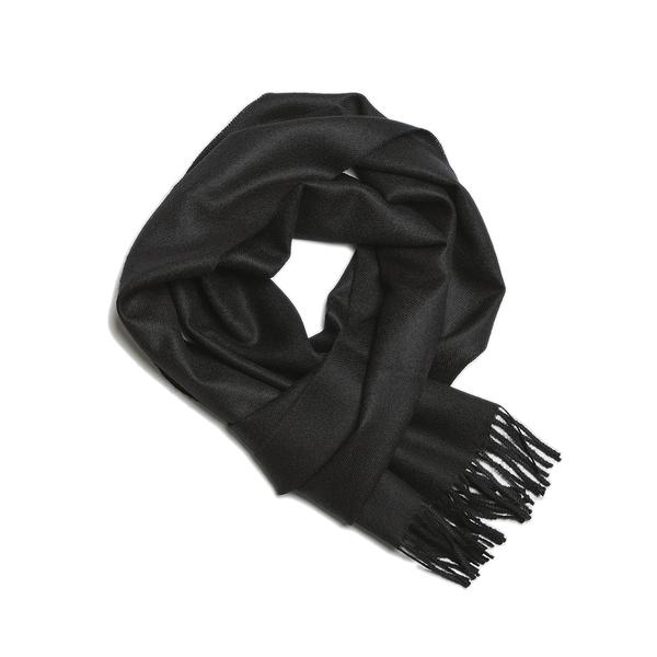 Alpaka Scarf Exclusive 100% 30x200cm 極致系列 素面單色 羊駝毛 超輕量 圍巾(黑色雅痞)