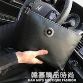 新款男士手拿包韓版休閒夾包手包男潮商務大容量信封包男包手抓包