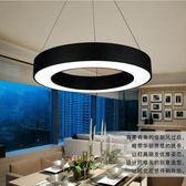 簡約現代辦公室LED創意空心圓工程餐吊燈客廳公司前台工作室吊燈 英雄聯盟 igo