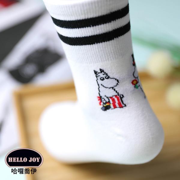 【正韓直送】嚕嚕米中筒襪 韓國襪子 長襪 韓襪 女襪 棉襪 MOOMIN 禮物 韓妞必備 哈囉喬伊 L4