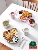 【7件套裝】小麥分格餐盤快餐盤小孩碗筷家用兒童餐具【福喜行】