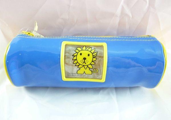 【震撼精品百貨】Miffy 米菲兔米飛兔~圓筒防水筆袋『藍底黃獅子』