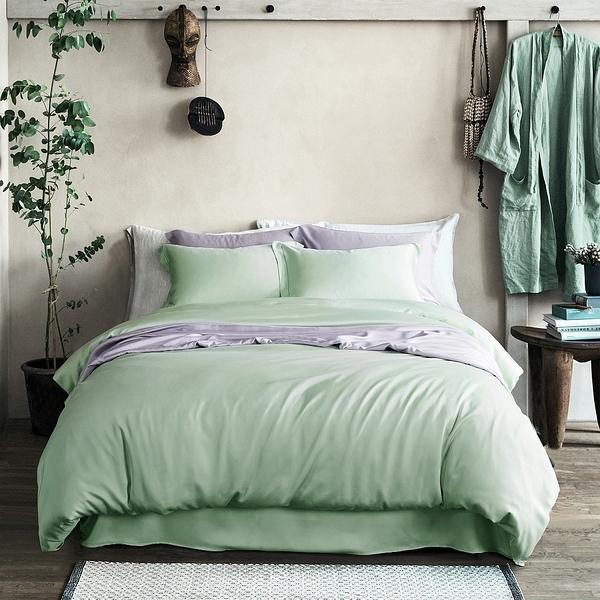 天絲床包組 果綠 100%天絲 萊賽爾 標準雙人 薄床包組 60支 涼感 不起球 Tencel LYOCELL