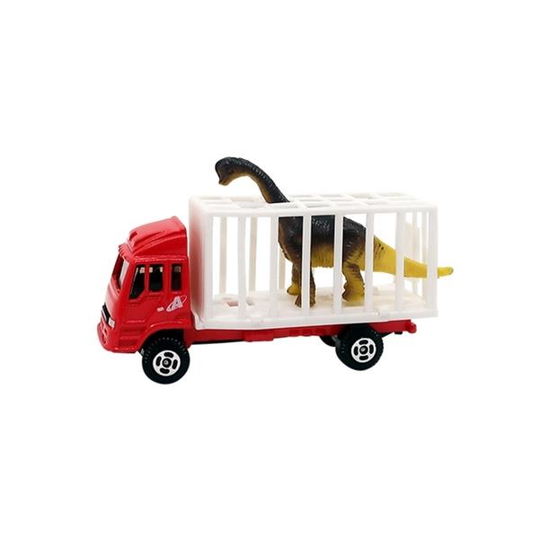 A&L奧麗迷你合金車 NO.161 動物搬運車-腕龍 滑行車 運送車 運輸車 工程模型車(1:64)【楚崴玩具】