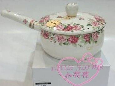 ♥小花花日本精品♥ Hello Kitty 玫瑰單柄鍋日本製鍋子湯鍋可電磁爐可瓦斯18CM煮麵鍋89942000