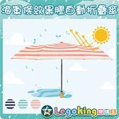 【樂購王】《海軍條紋 黑膠自動折疊傘》超強防曬/折疊傘/黑膠晴雨傘 /雨傘【B0481】