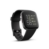 Fitbit Versa 2 一卡通智慧運動手錶 碳黑框黑色錶帶