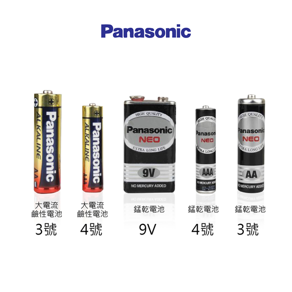 【Panasonic國際牌 鹼性電池】4的倍數下單 3號電池 4號電池 9V電池 乾電池 鹼性電池
