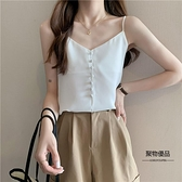 夏季韓版法式修身顯瘦短款內搭外穿小可愛背心女裝【聚物優品】
