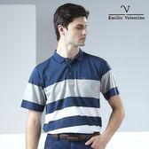 【Emilio Valentino】范倫鐵諾經典英式橫條_藍/灰/白