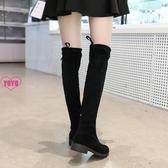 YOYO 過膝靴 長筒靴 騎士靴 圓頭 中跟 方跟 女靴