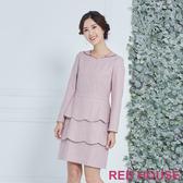 【RED HOUSE 蕾赫斯】羊毛層次洋裝(共兩色)