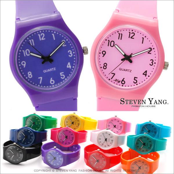 STEVEN YANG【KCB056】時尚手錶 果凍女孩撞色對錶 糖果馬卡龍冰沙繽紛 *單個價格* 現貨+預購