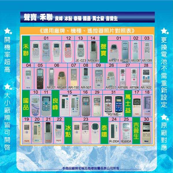 【聲寶】ACP-S1-49 聲寶冷氣 窗型 變頻 分離式 液晶冷氣遙控器