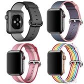 錶帶 適用蘋果apple watch手錶4錶帶 iwatch2代運動尼龍錶帶38/42/40/44mm錶帶男女iWatch3回環腕帶 交換禮物