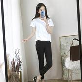 白色短袖T恤女韓版春夏季新款純棉打底上衣寬鬆圓領體恤衫潮   檸檬衣舍