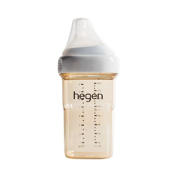 新加坡 hegen 金色奇蹟PPSU多功能方圓型寬口奶瓶 240ml
