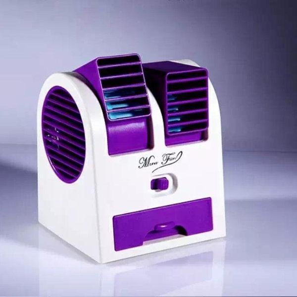 車載風扇-車載迷你靜音小風扇usb雙頭強力制冷空調可便攜式電池無葉小空調【諾克男神】